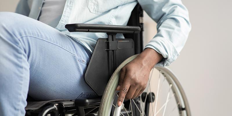 paciente preferencial de cadeira de rodas
